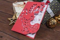 Santas Boot Christmas Invitation cutting file Product Image 2
