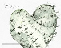 Watercolor cactus clipart, Cute cactus png. Love cactus Product Image 3