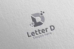 Digital Letter D Logo Design 11 Product Image 5