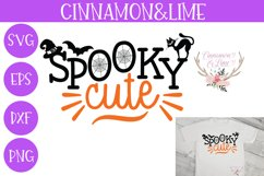 Spooky Cute Girl Halloween SVG Cut File Product Image 1