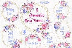 Geometric Frames clipart, FLORAL FRAMES, Wedding Frames Product Image 1