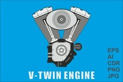 Vector image of a V-twin engine Product Image 1