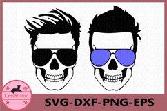 Dadlife svg, Skull with glasses svg, Dad life Skeleton svg Product Image 1