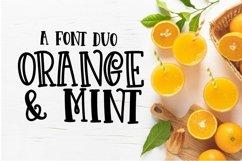 Web Font Orange N Mint Product Image 1
