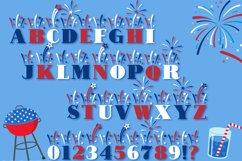 Fireworks - 4th of July Font & Bonus Star Studded Font Product Image 2