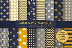 Nautical Pattern Digital Paper Product Image 1