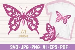 Butterfly SVG, butterfly PNG, butterfly silhouette Product Image 1