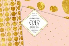 Gold foil Polka dot Blush Pink Seamless Pattern Product Image 2