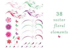 Set of Decorative Floral Elements Product Image 3