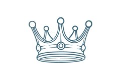 Crown hand drawn vector illustrations set. Product Image 5