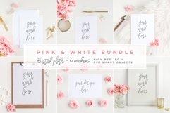 Pink & White Bundle - Mockups Product Image 1
