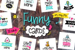 30 Funny Lettering Cards Collection Product Image 1
