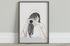 Art Print - Girl secretly taking pictures Product Image 5