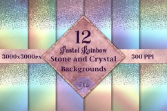 Pastel Rainbow Stone and Crystal Backgrounds - 12 Images Product Image 1
