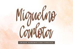 Modern Script Font - Miguelno Carlota Product Image 1