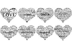 Family Hearts BUNDLE - Svg Cut Files Product Image 2