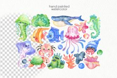 Watercolor Underwater Clipart - PNG Files Product Image 3