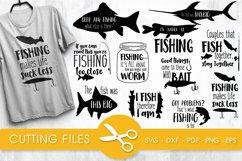 Fishing svg bundle cutting files svg, dxf, pdf, eps, png Product Image 1