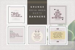 GRUNGE Social Media Quote Banners Product Image 1