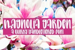 Web Font Magnolia Garden - A Quirky Handlettered Font Product Image 1
