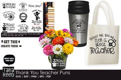 Thank You Teacher Puns - Teacher SVG files for Crafters Product Image 2