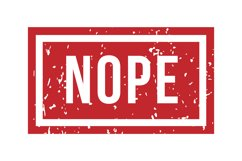 Nope rubber stamp. Isolated vector. Illustration stamp Product Image 1