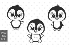 Penguin svg, Baby animals SVG, Set of cute Penguins cliparts Product Image 1