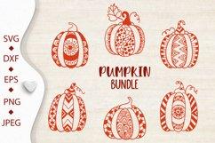 Pumpkin bundle svg. Pumpkin mandala clipart. Thanksgiving. Product Image 5