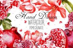 Beautiful watercolor pomegranates Product Image 1
