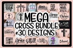 MEGA CROSS BUNDLE - 30 DESIGNS - EASTER SVG PNG EPS DXF Product Image 1