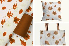 Autumn watercolor leaves pattern, seamless. Product Image 2