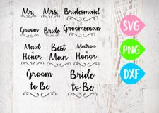 Bridal Party Bundle Svg, Groom, Bride, Maid of honor, Best Man, Wedding Bundle Product Image 1