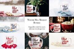 Winter mug mock-up bundle - 8 jpeg mockups Product Image 1