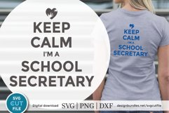 School secretary svg -a keep calm svg file for crafters Product Image 1
