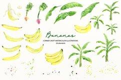 Watercolor Banana Clipart Product Image 3