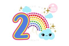 2nd Birthday svg   My 2nd Birthday svg   Rainbow Birthday Product Image 1