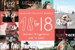 18 for 18   Font Bundle for 2018 Product Image 1