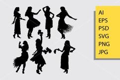 Hula hula girl dance silhouette Product Image 1