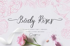 Birdy Roses | Script font and Swashes Product Image 1