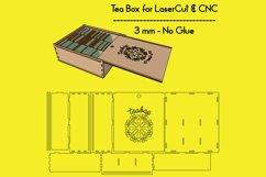 Tea Box-Laser cutting file Product Image 1