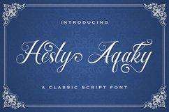 Hesty Aqaky - Modern Script Font Product Image 1