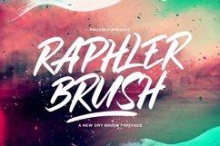 Web Font Raphler Brush Product Image 1