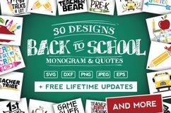 Back To School SVG Bundle in SVG, DXF, PNG, EPS, JPG Product Image 1