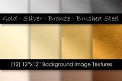 Steel Digital Paper - Metal Texture Backgrounds Product Image 1
