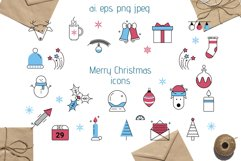 Christmas Line icons and patterns Product Image 2