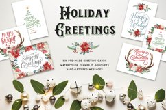 Holiday Greeting Cards and Clip Art Set Product Image 1