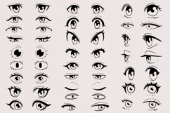 50 Anime and Cartoon Eyes Stamps for Procreate Product Image 3