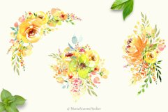 Watercolor flowers - Yellow February Product Image 4