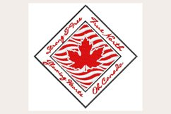 Canada Strong - Machine Embroidery Design Product Image 1