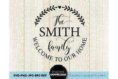Monogram SVG, Family name SVG, Family svg, Last name svg Product Image 1